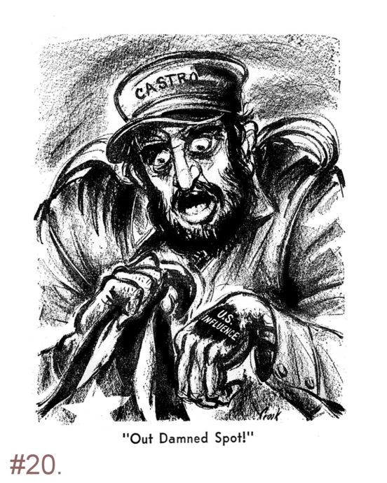 Political Cartoon - Castro