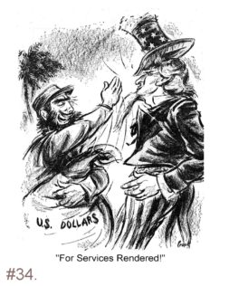 Fidel Castro - Uncle Sam Political Cartoon